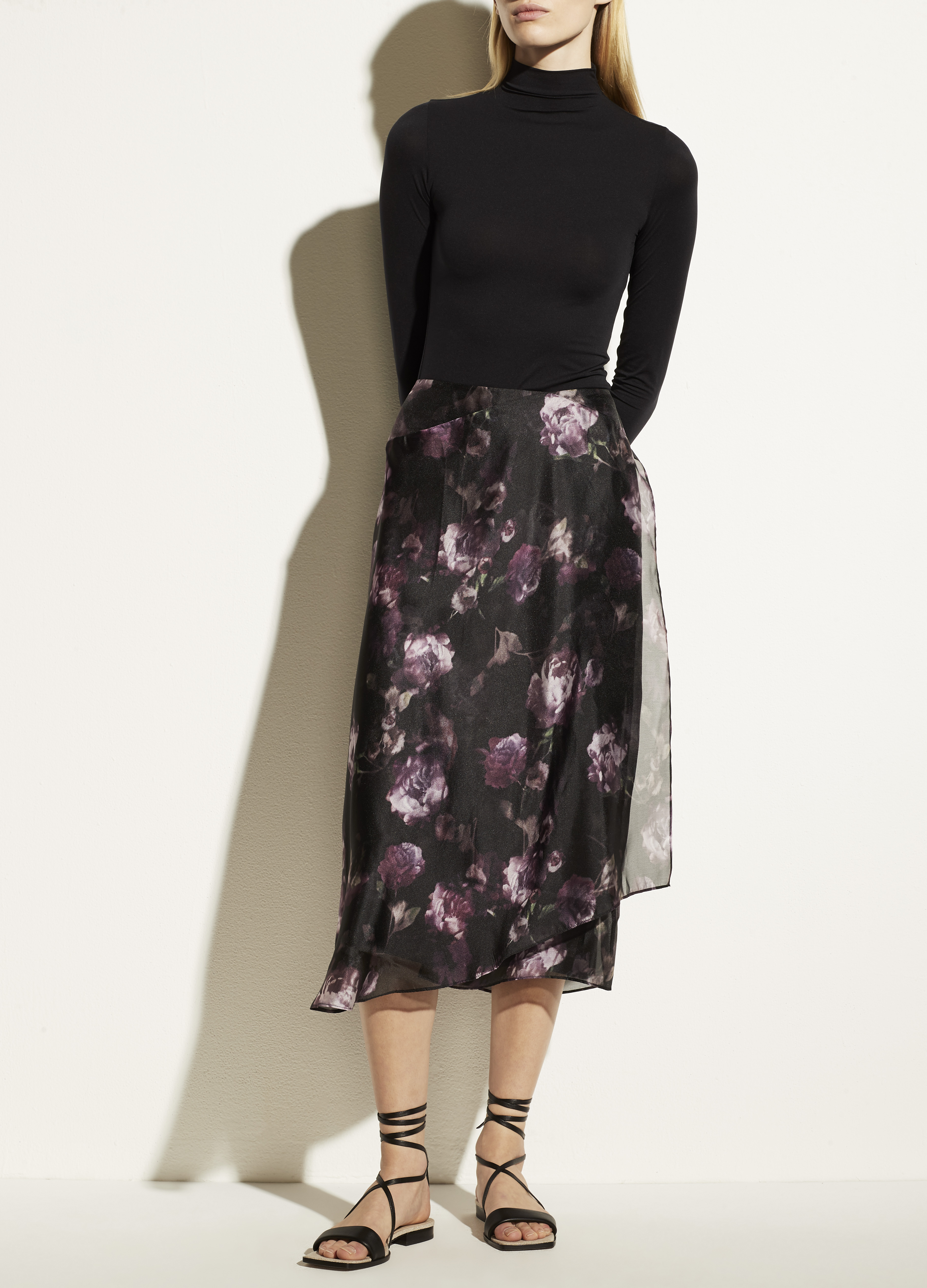 Night Garden Handkerchief Drape Skirt