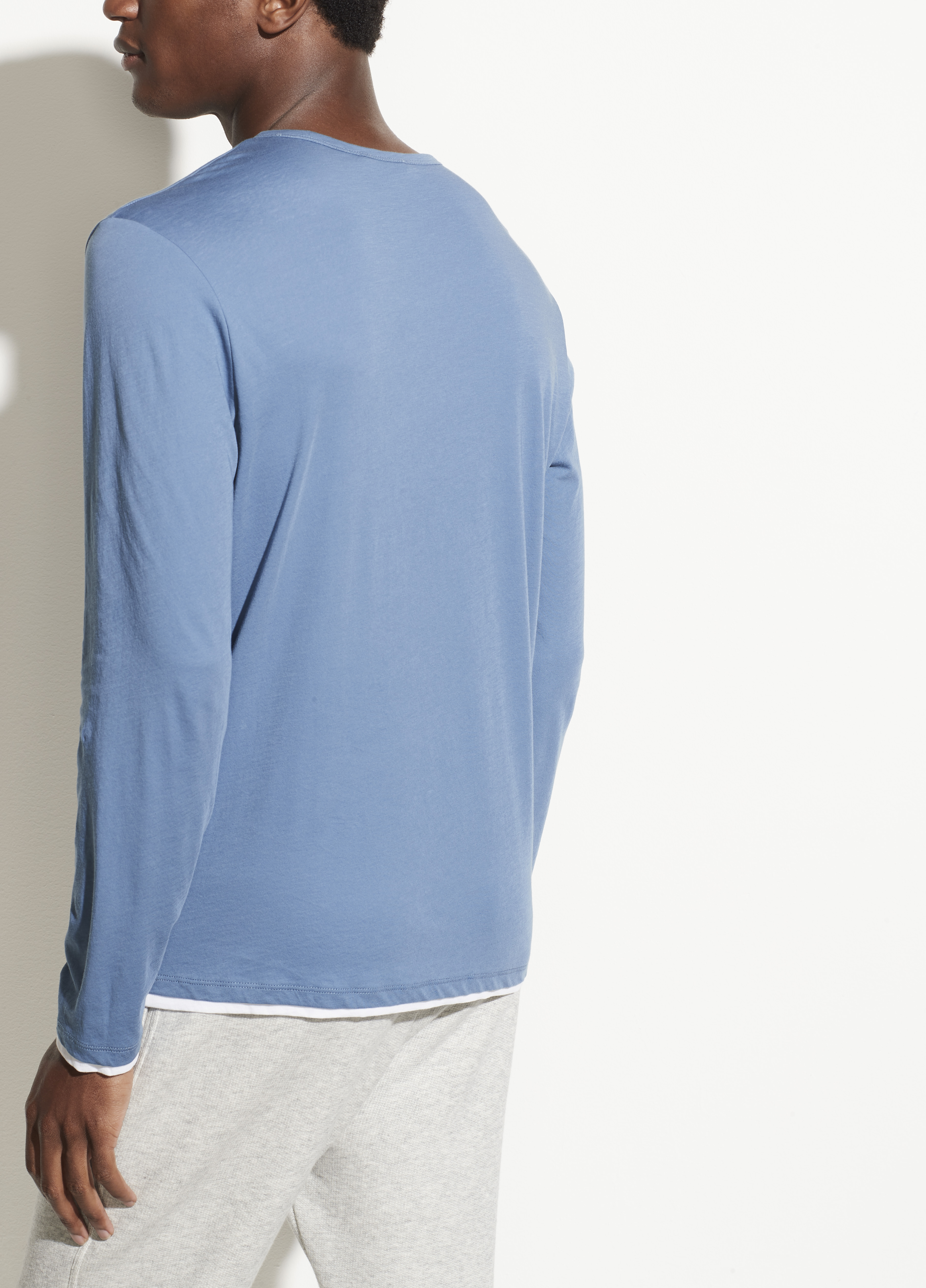 Double Layer Long Sleeve Crew
