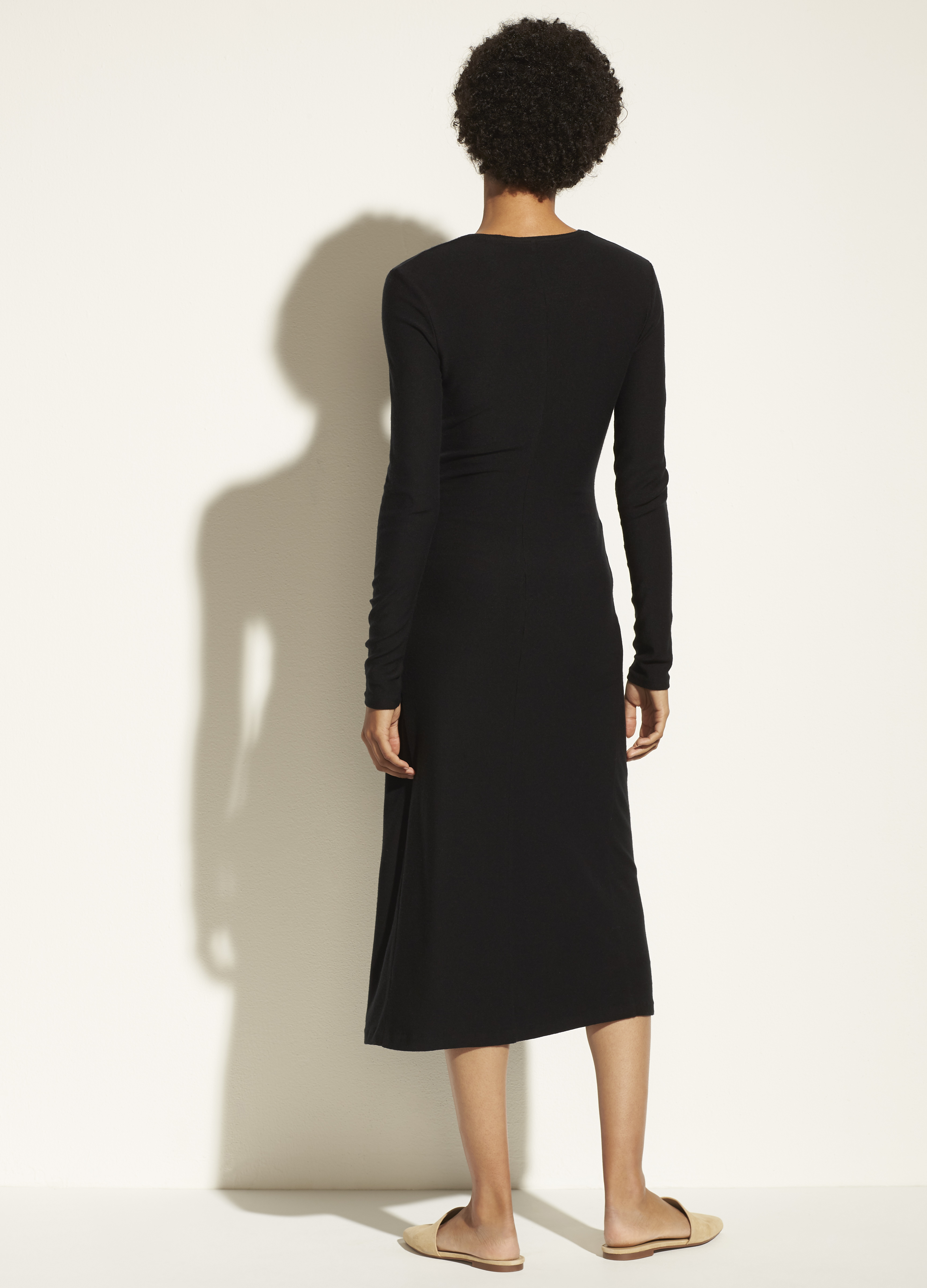 Long Sleeve Drape Dress
