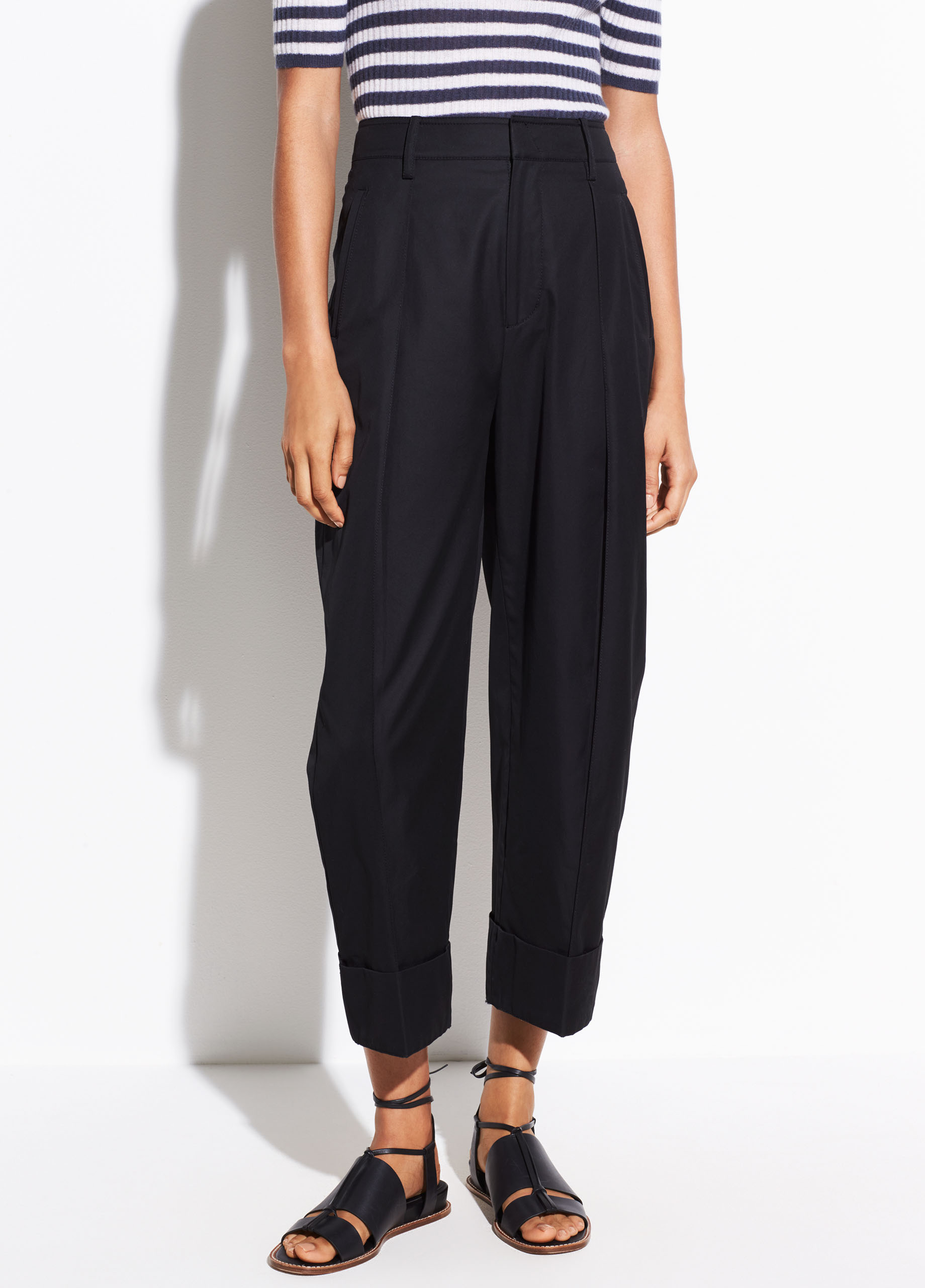 Cuffed Wide Leg Trouser by Vince