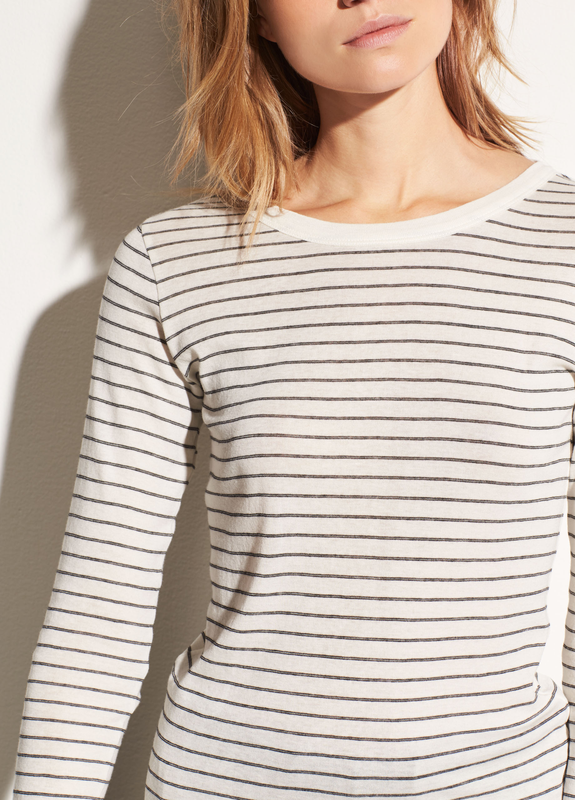 Raglan Ribbed Wool and Cashmere Crew