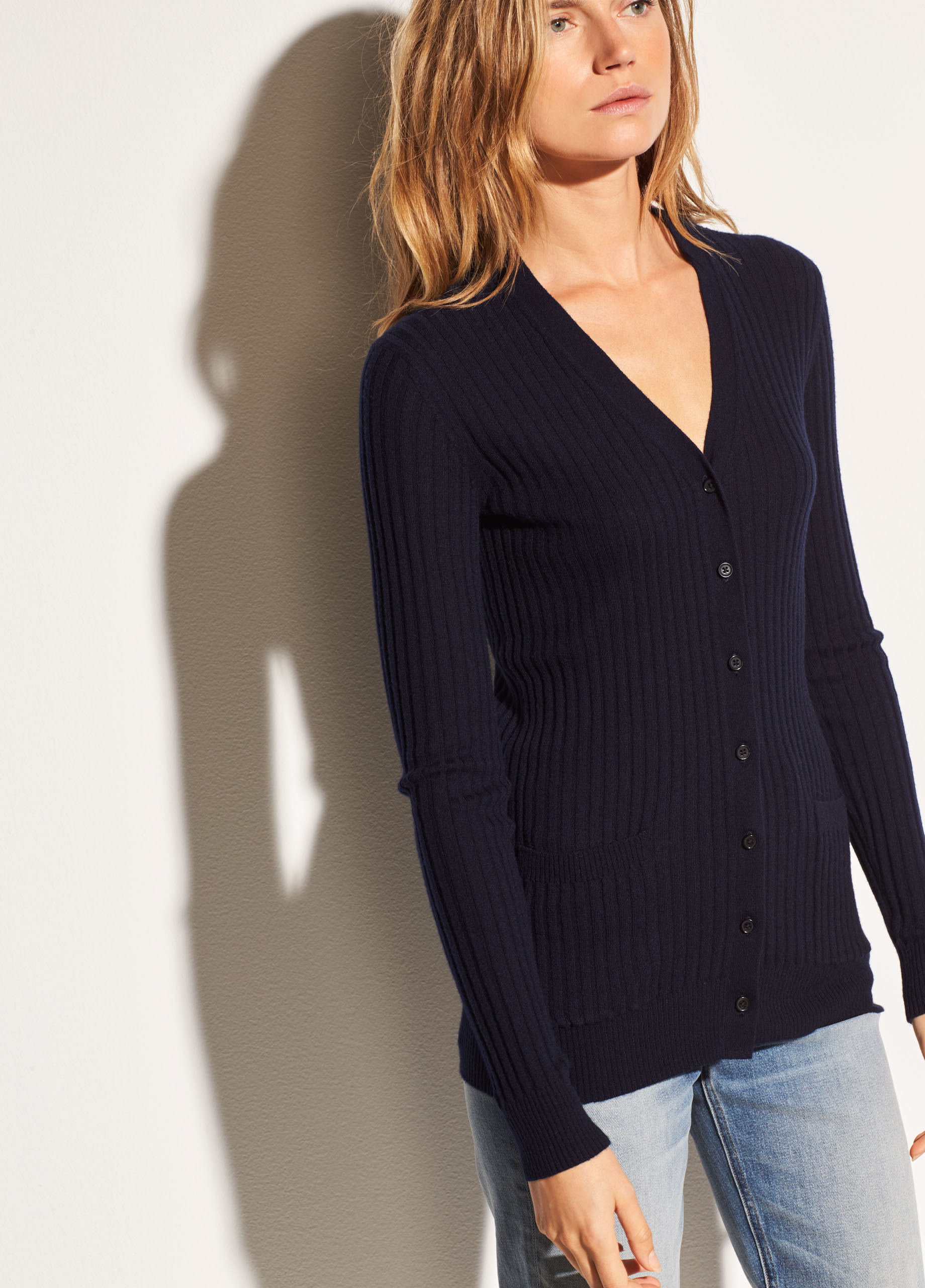 Pay With Visa Sale Online Cheap Sale Get Authentic Rib Skinny Cashmere Cardigan Sweater Vince TAxm1h5asc