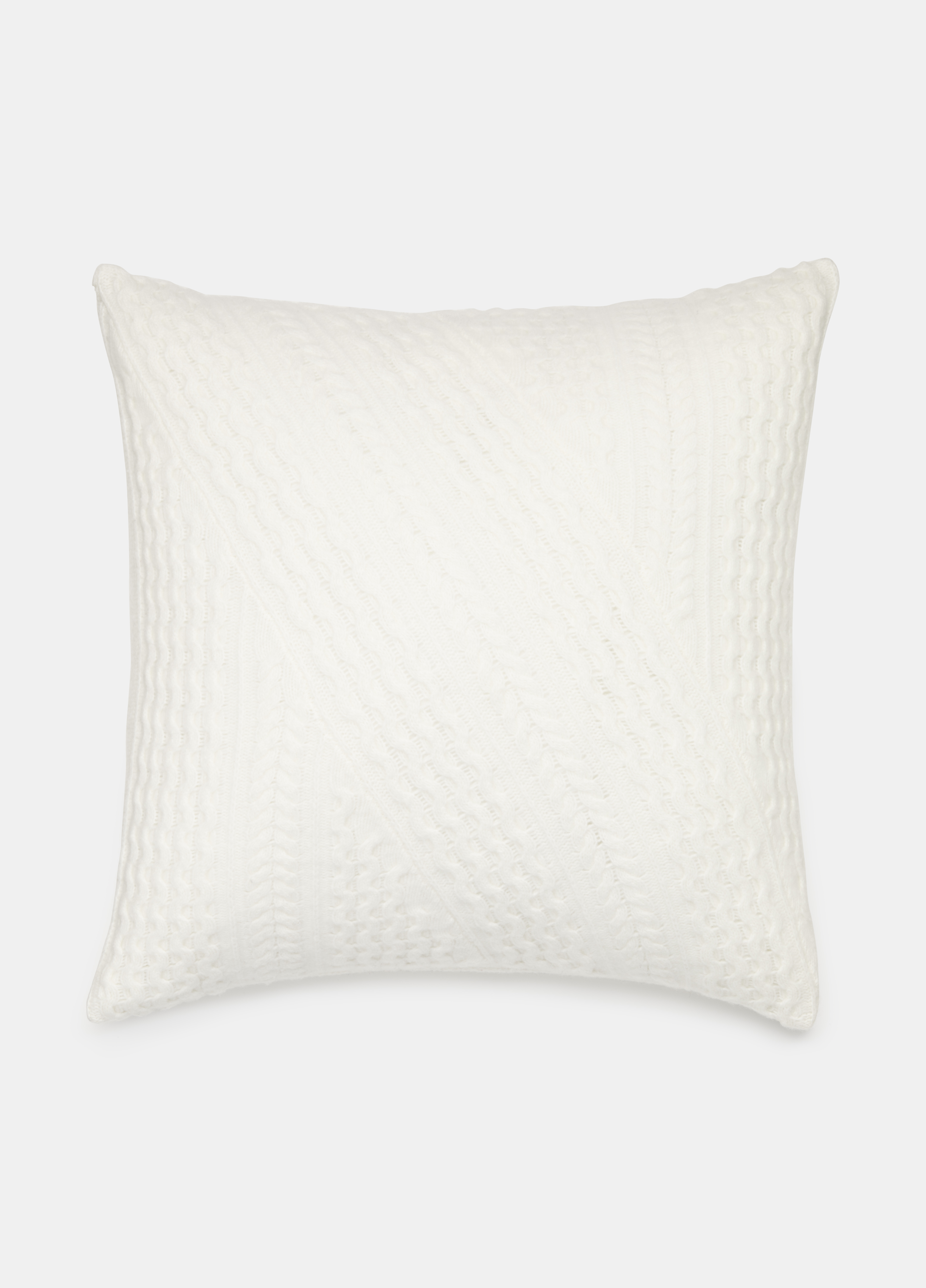 Cable-Knit Merino Pillow