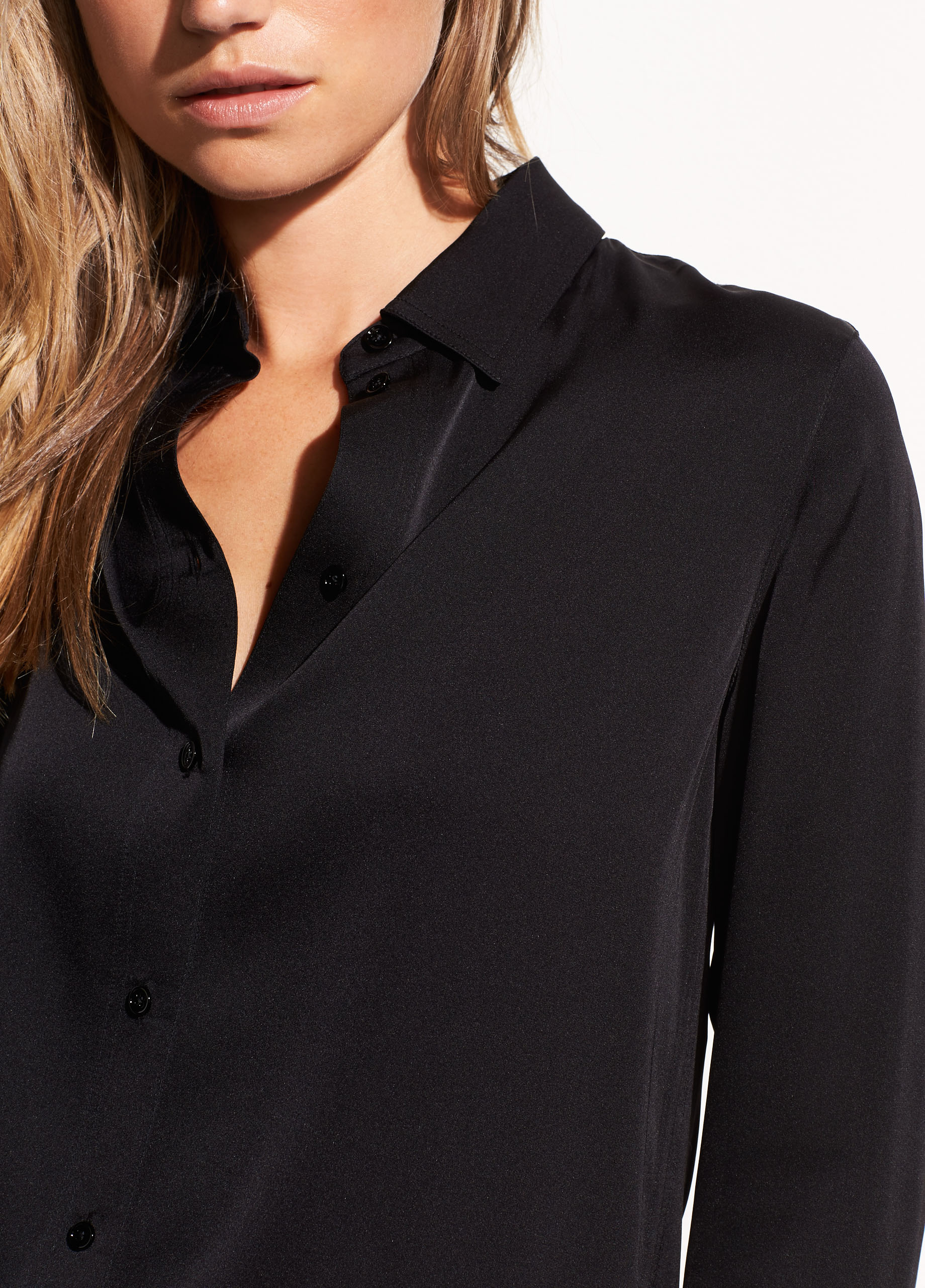5985124daed6e Slim Fitted Stretch-Silk Blouse for Women