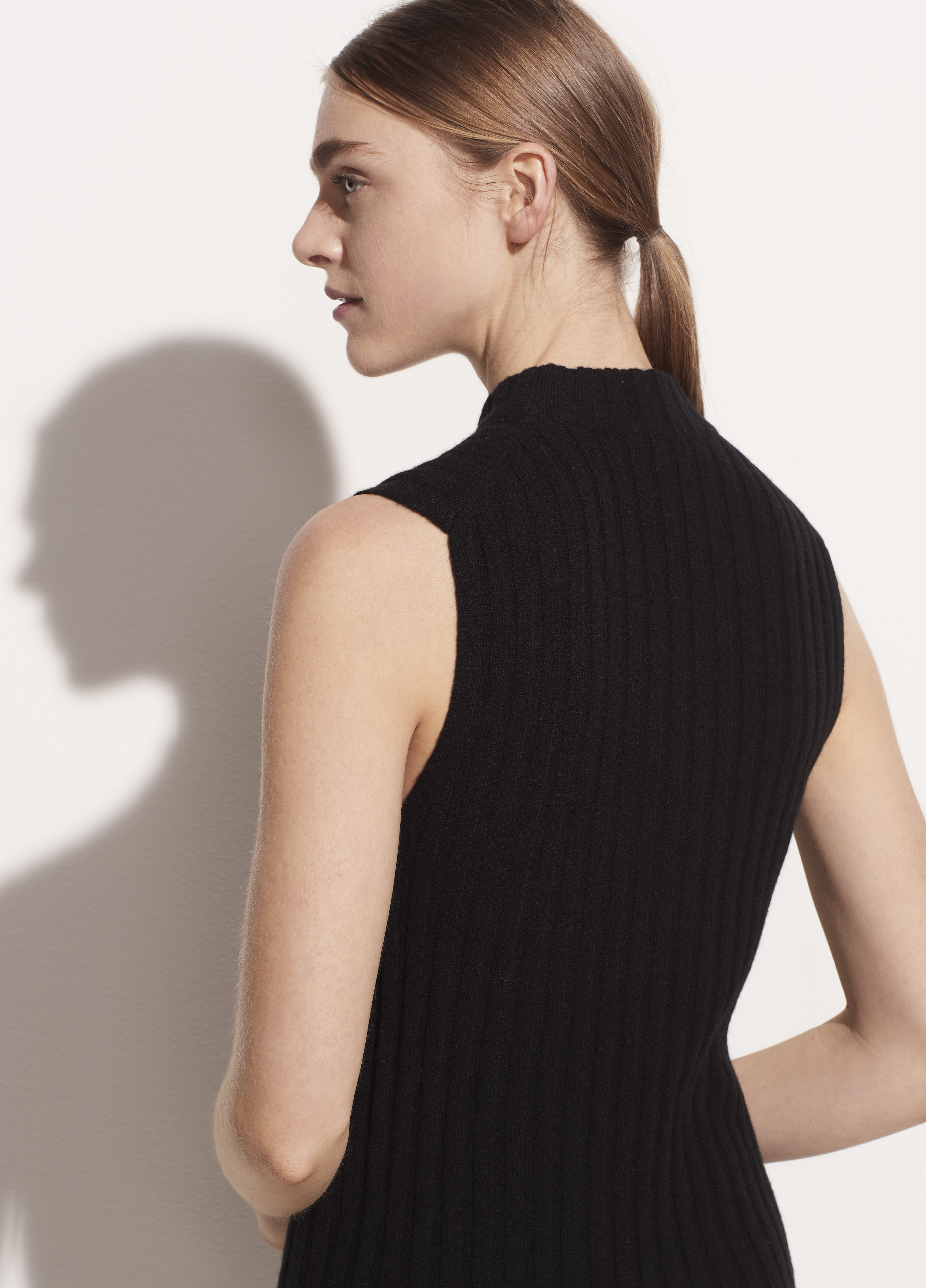 Cashmere High Neck Shell