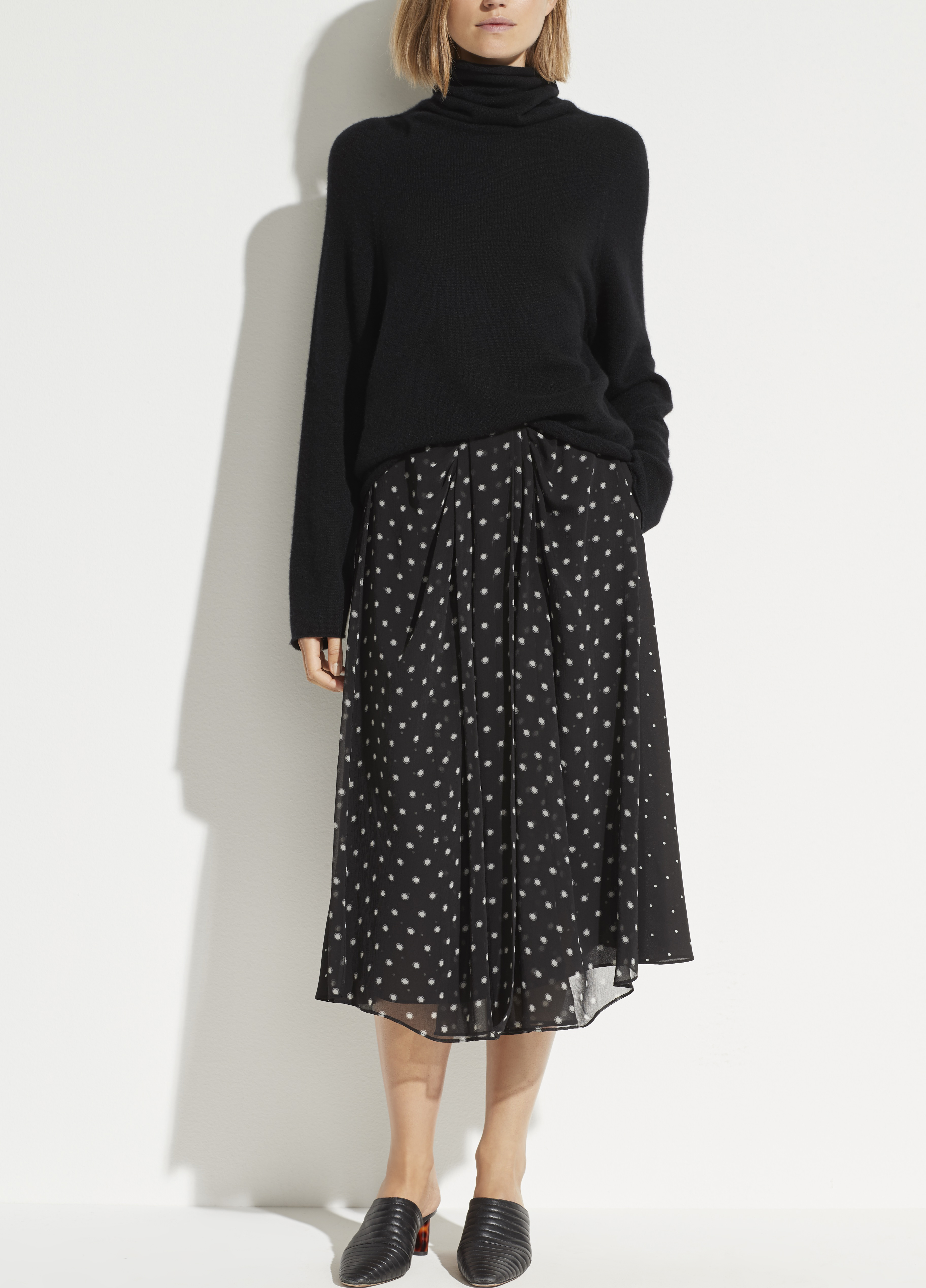 Mixed Dot Skirt