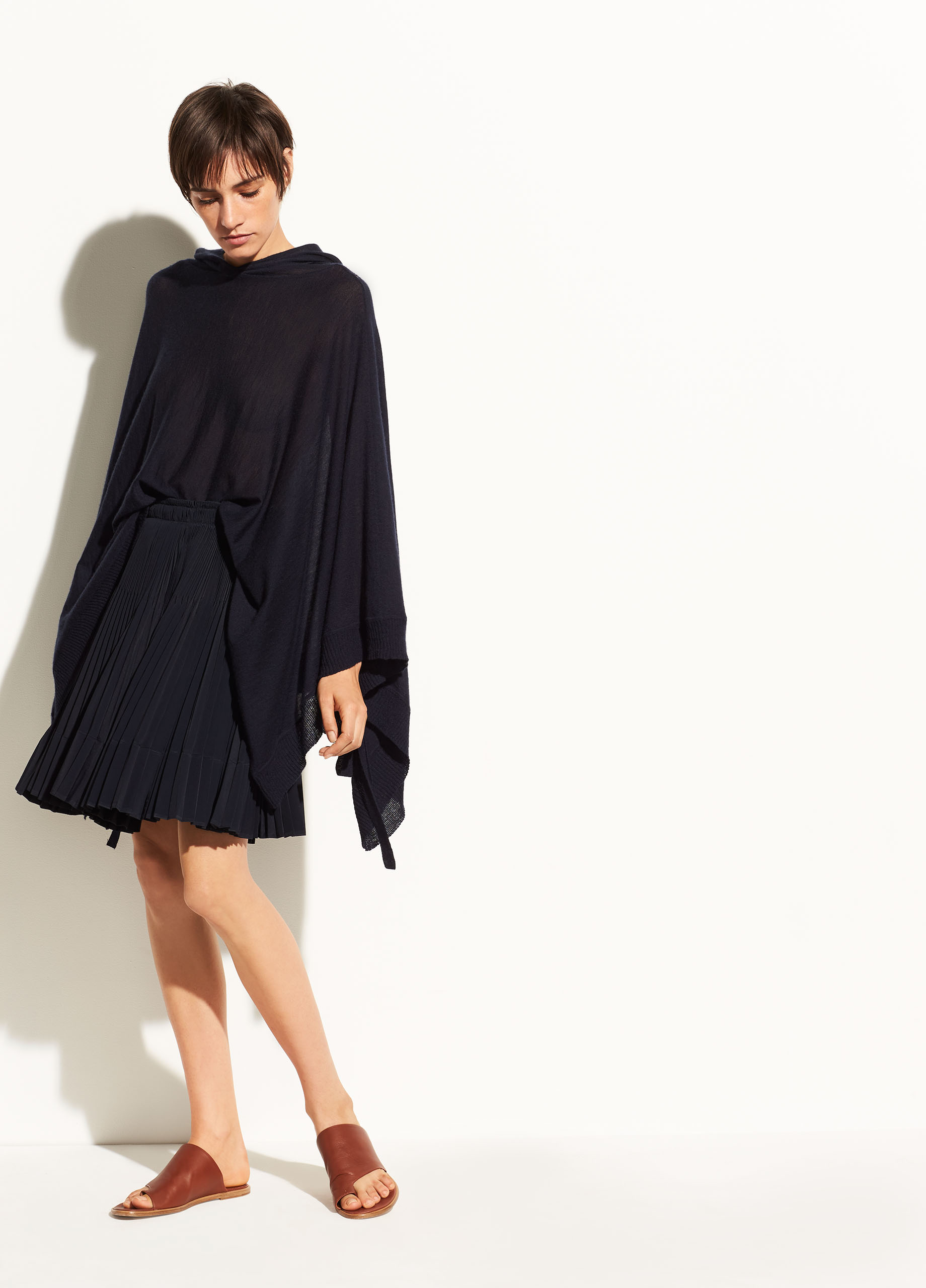 Hooded Wool and Cashmere Poncho