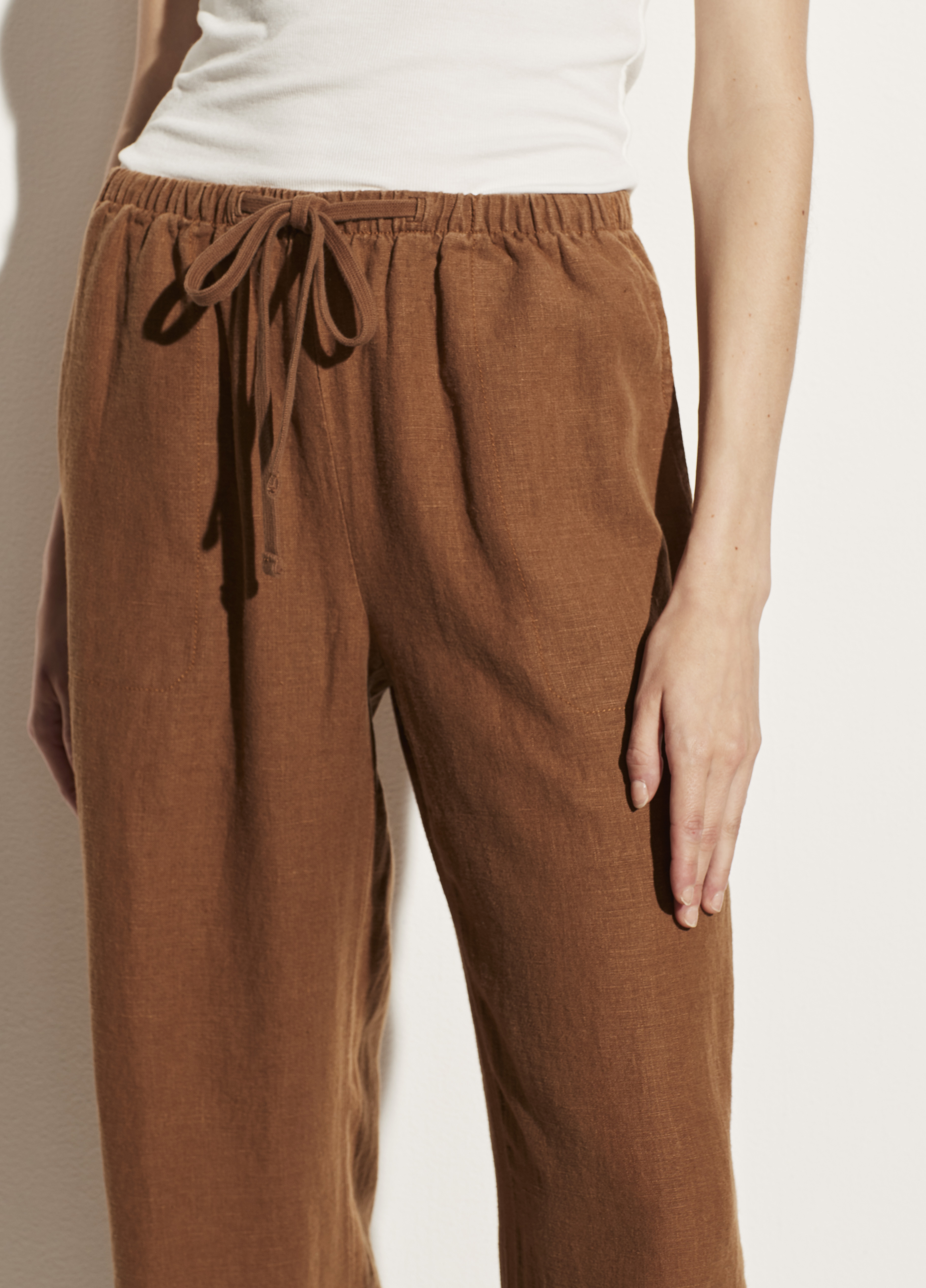 Tie Front Pull On Pant