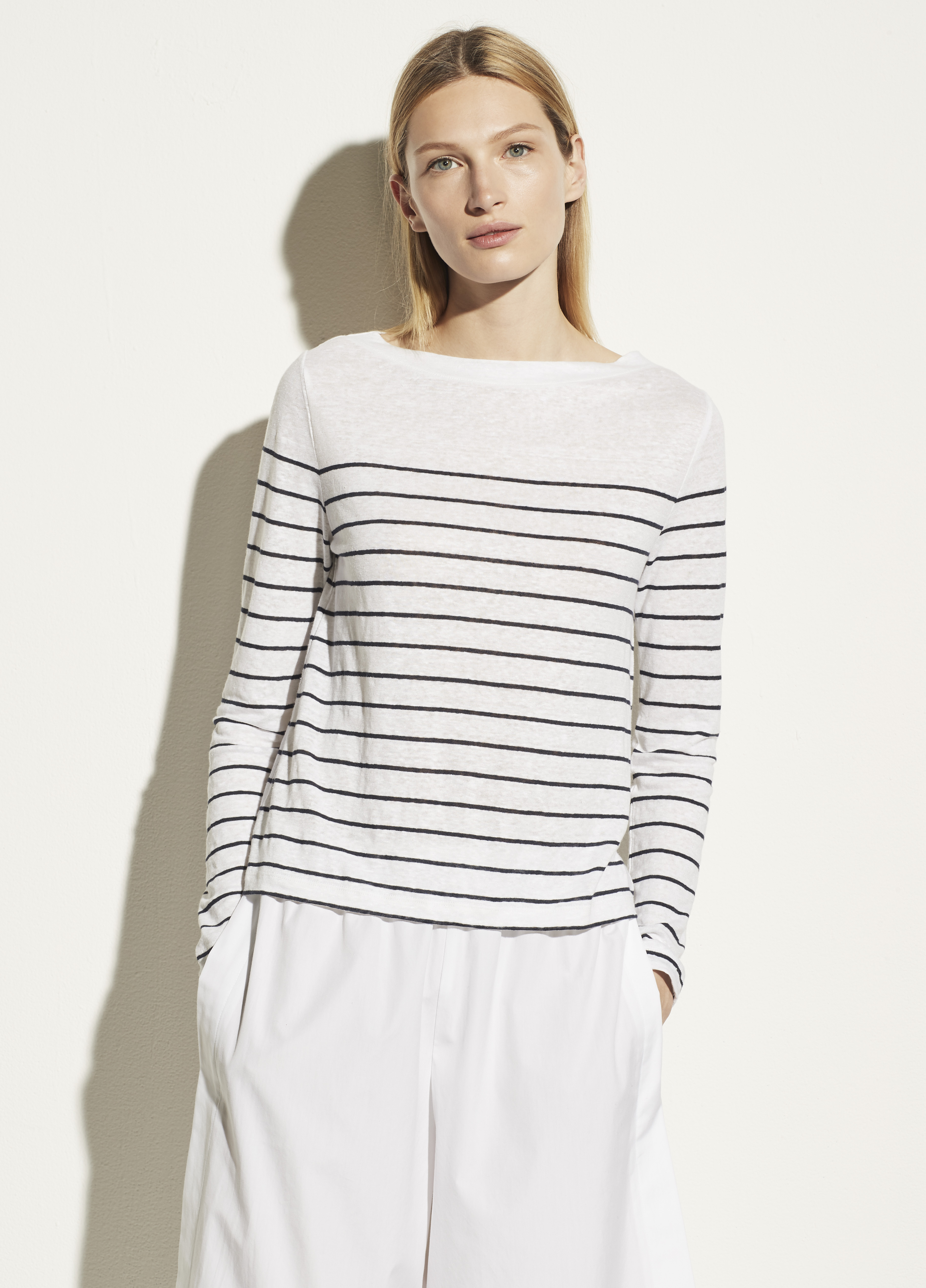Breton Stripe Long Sleeve Boat Neck