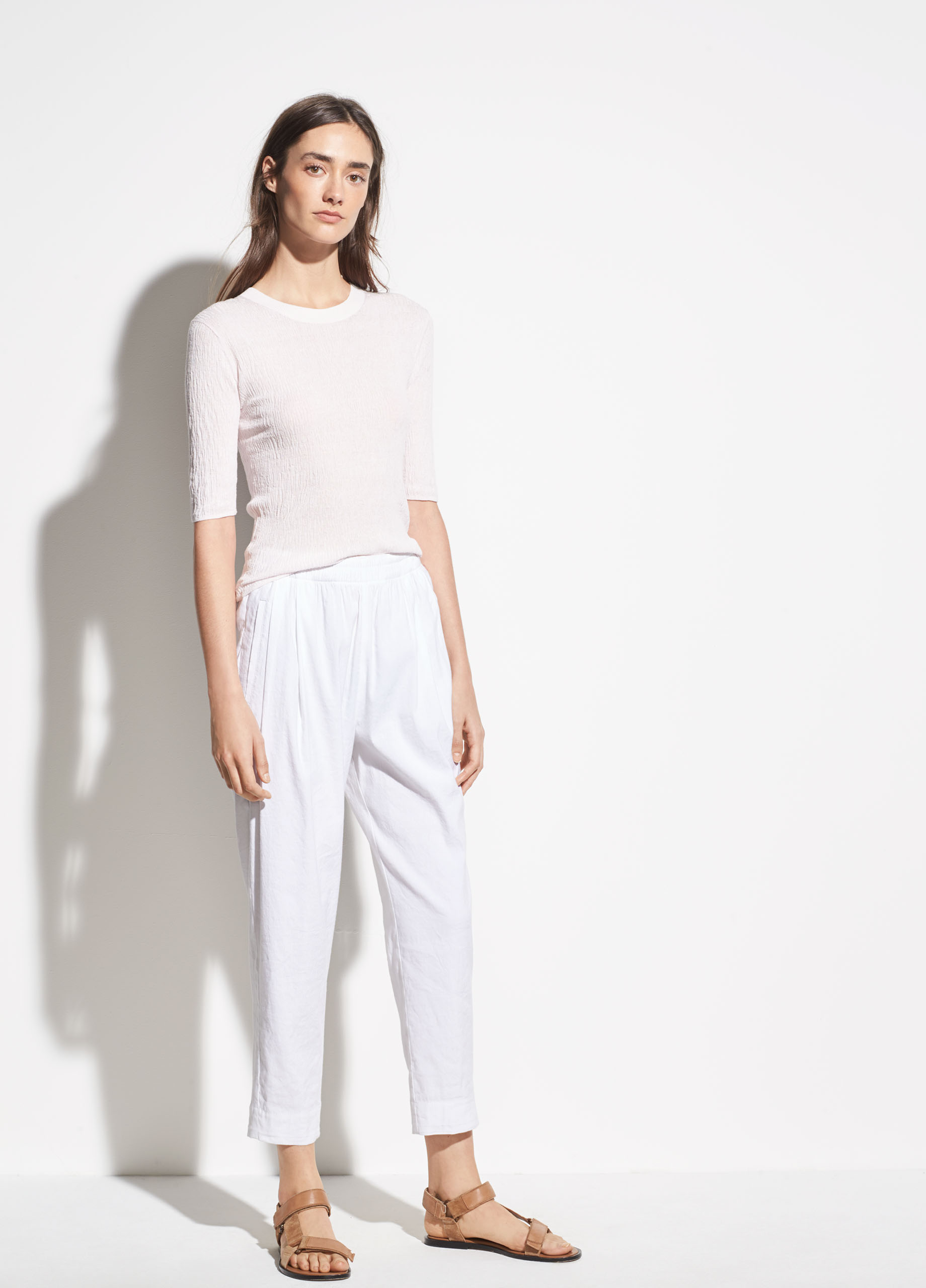 Tapered Pull On Linen Pant For Women Vince