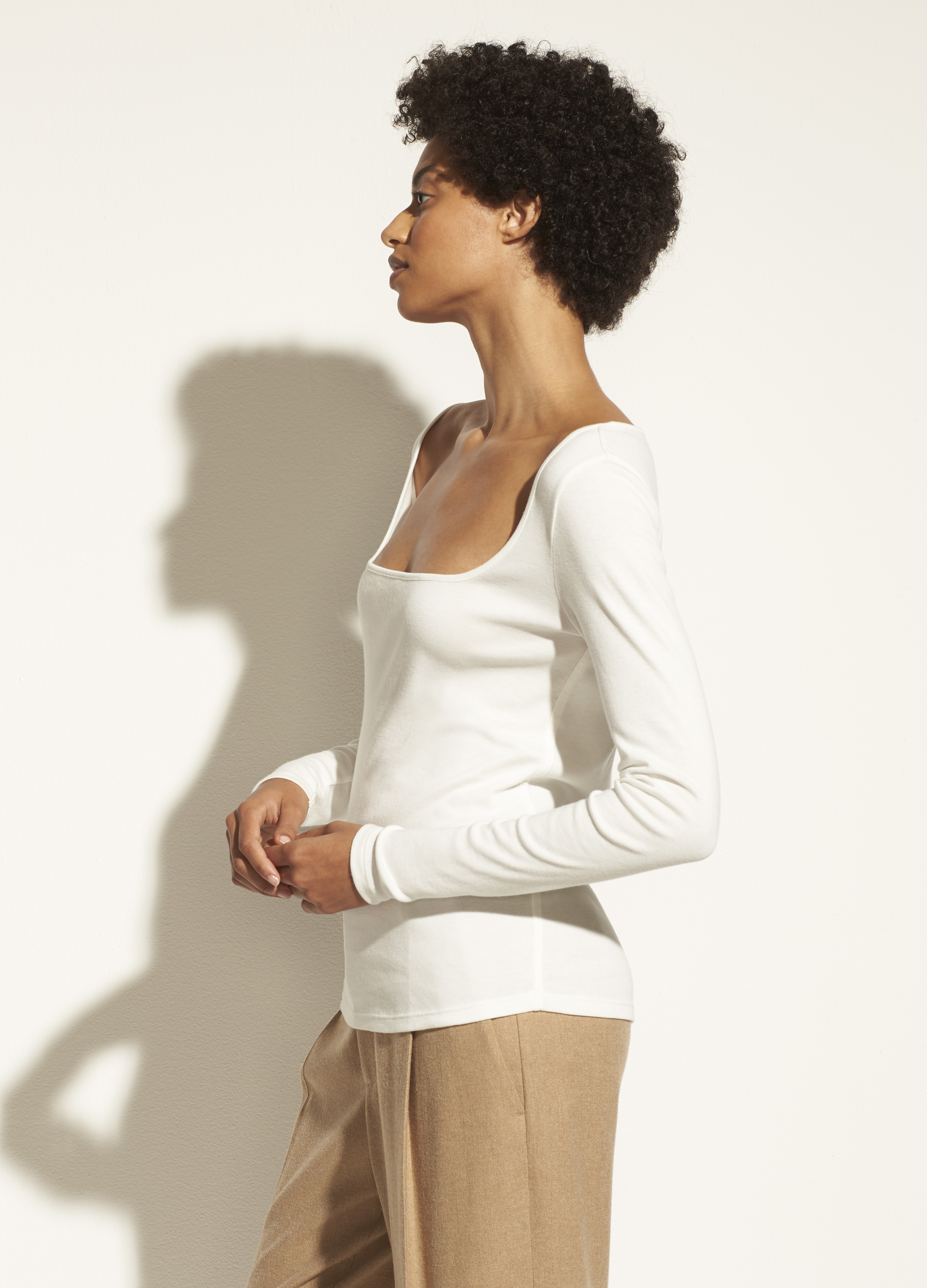 Long Sleeve Square Neck