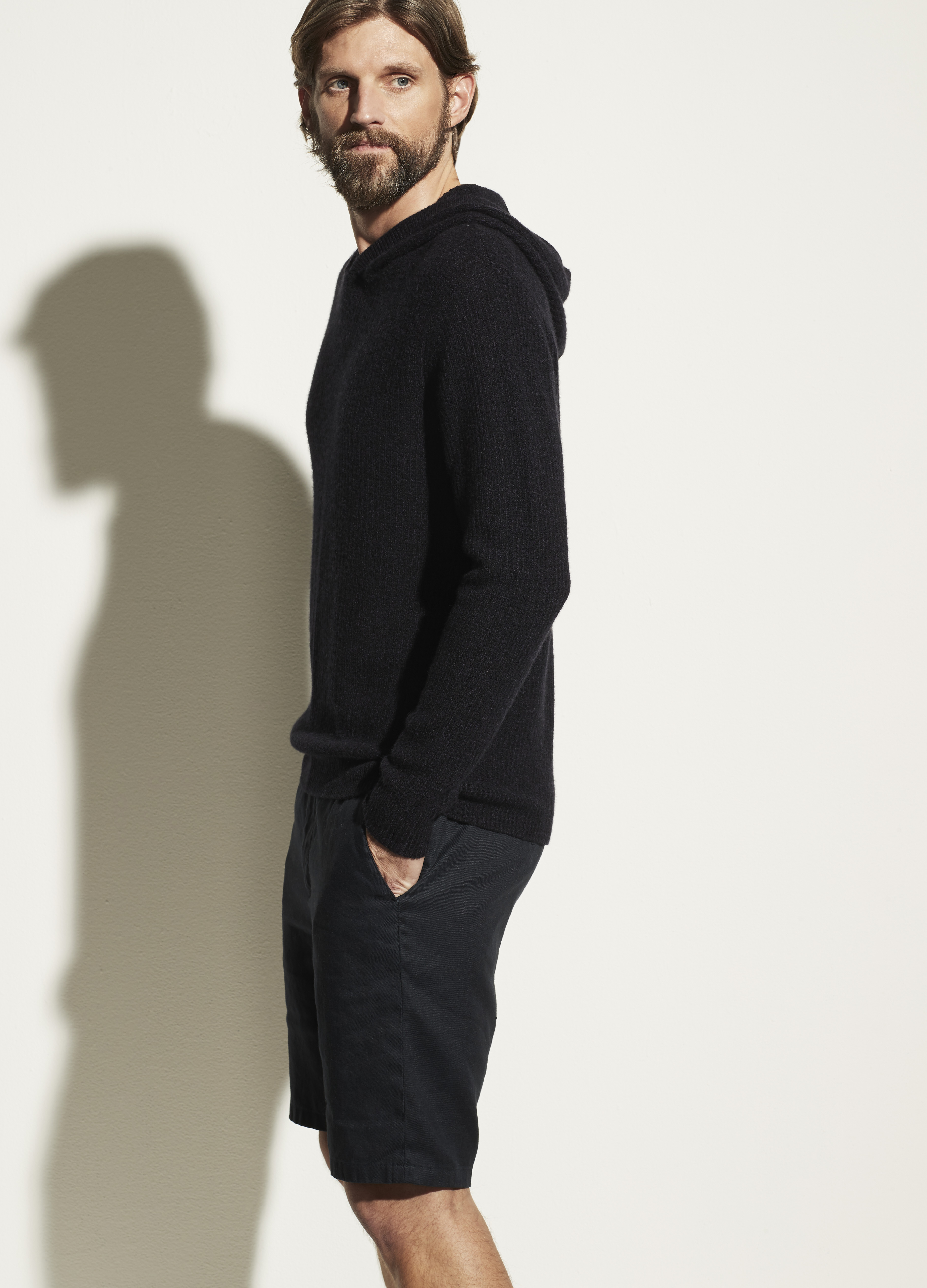Marled Cashmere Pullover Hoodie
