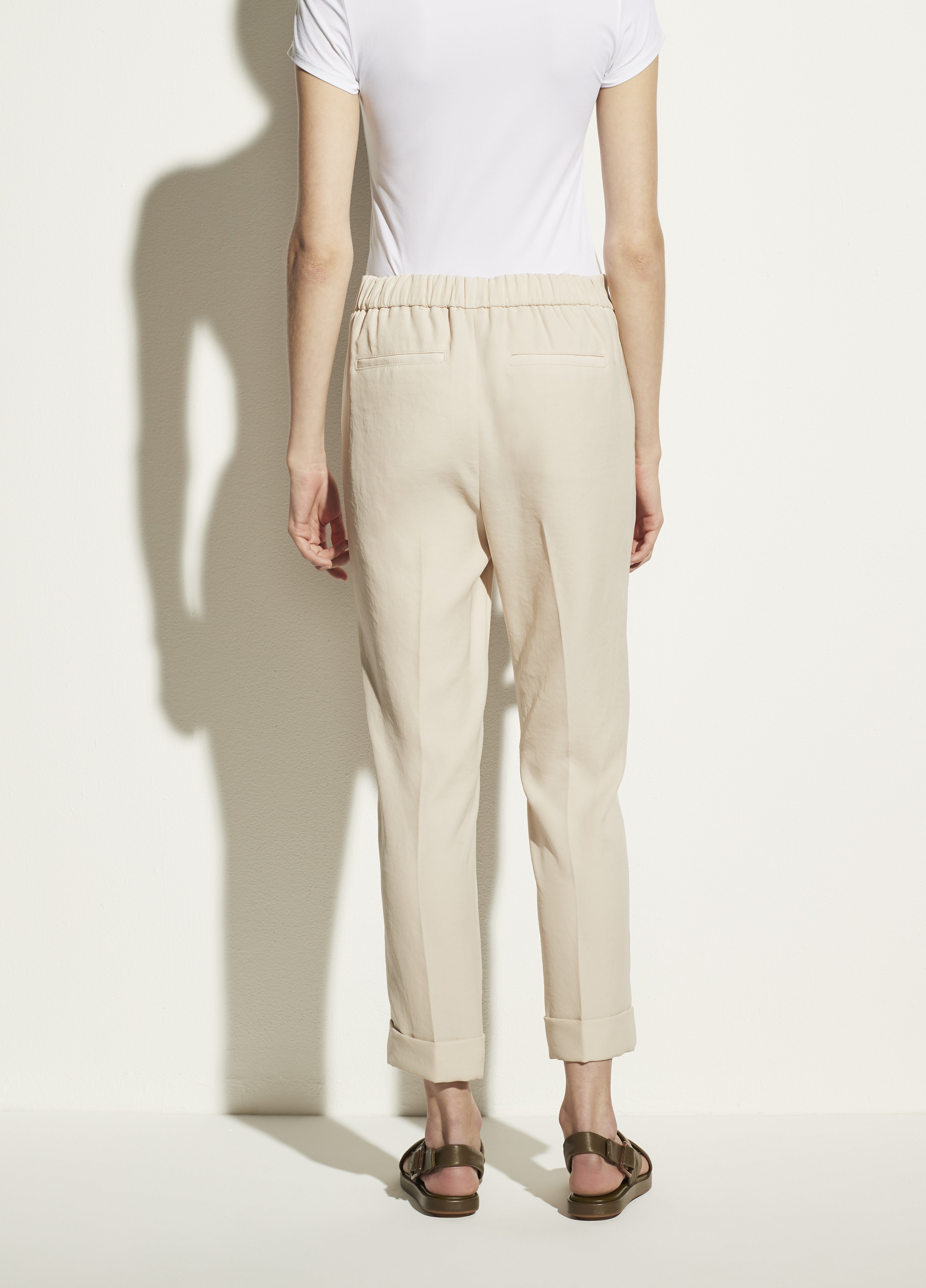 Cuffed Tapered Pull On Pant