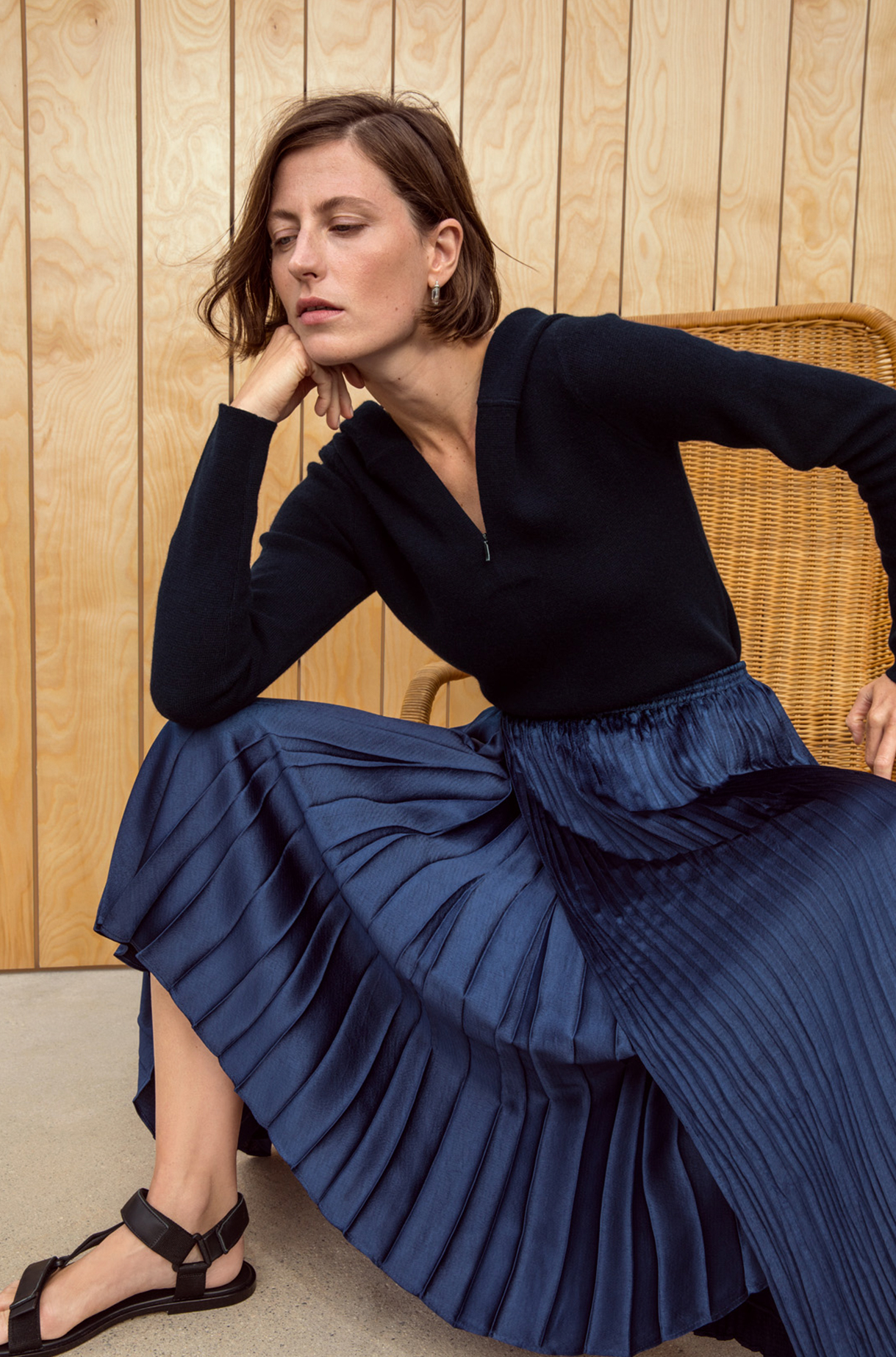 Mixed Pleat Skirt Spring 2019 Collection for Women