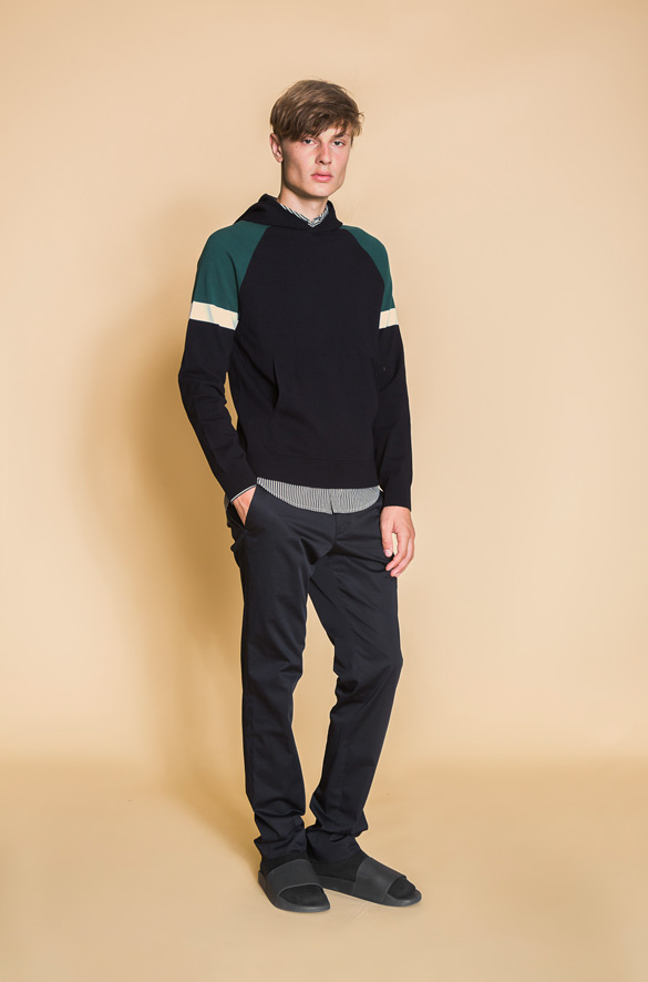 Color Block Pullover Hoodie Vince Pre-Order for Men