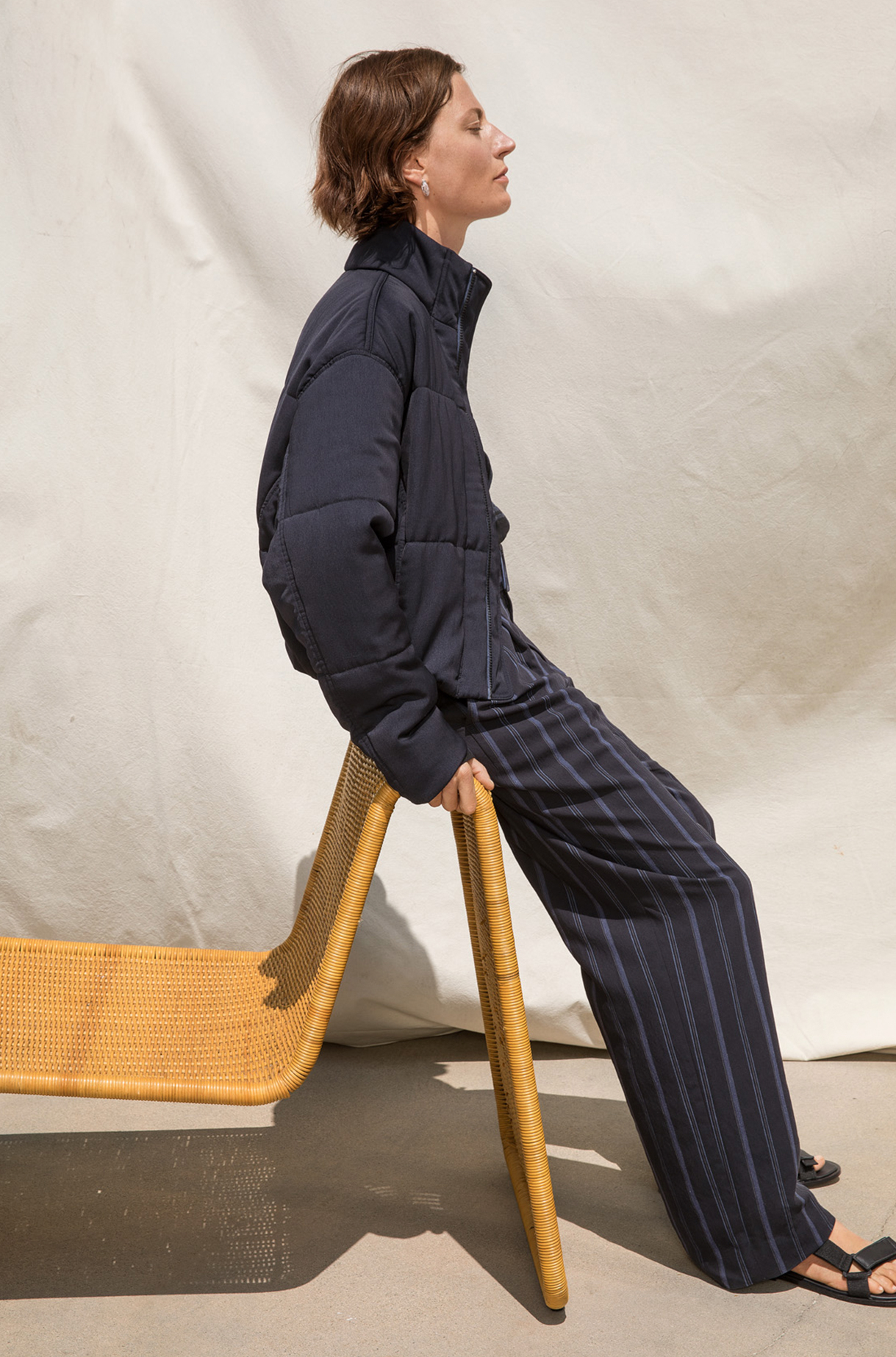 Dobby Stripe Belted Pant Spring 2019 Collection for Women