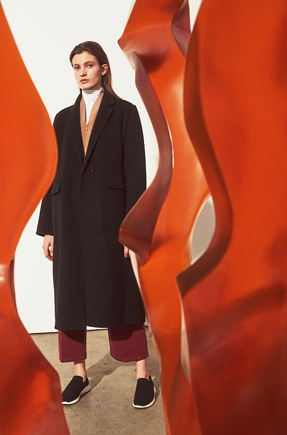15bd0208b4d8c Long Brushed-Wool Coat Fall 2018 Collection for Women