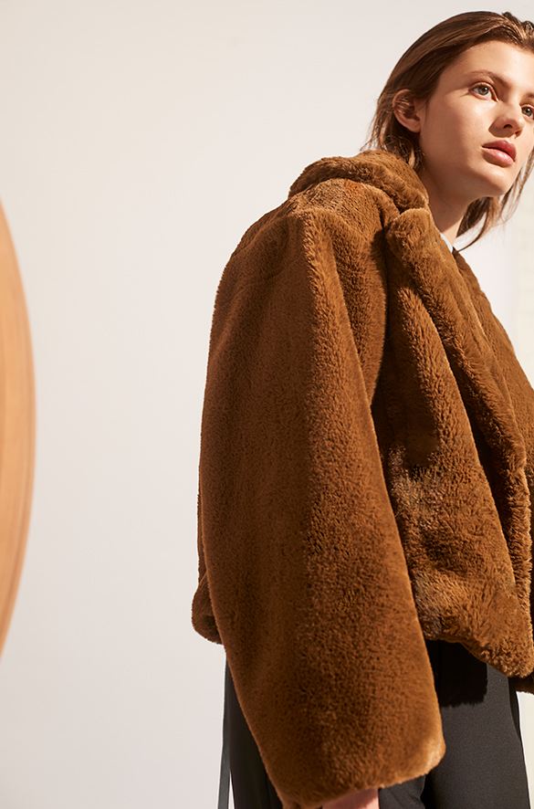 Plush Faux Fur Coat Fall 2018 Collection for Women