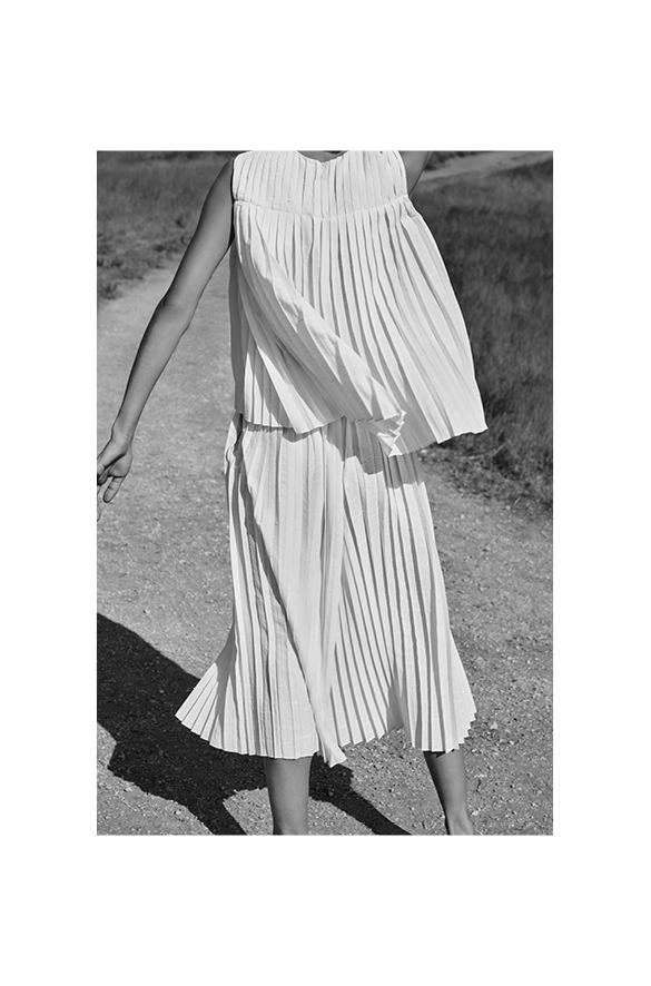 Pleated Shell Summer for Women