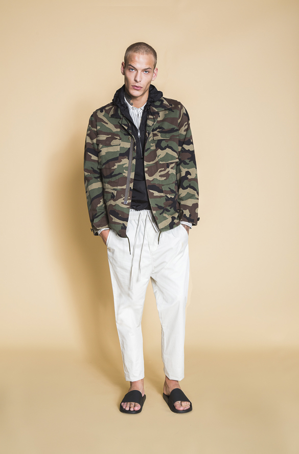 Cotton Military Jacket Vince Arriving Soon for Men