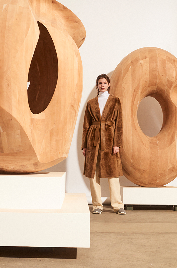 Belted Shearling Coat Fall 2018 Collection for Women