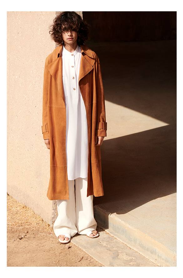 Suede Trench Vince Women