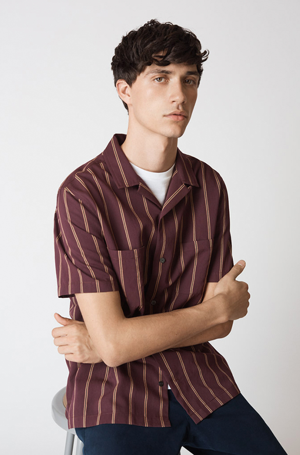 Vintage Stripe Cabana Short Sleeve Prefall 2018 Collection for Men